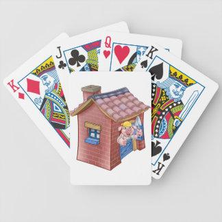 Baralhos De Poker Casa pequena da palha do conto de fadas de três