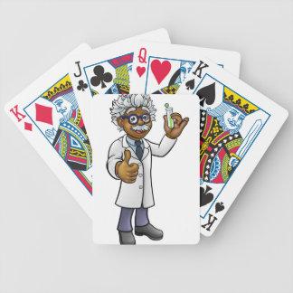 Baralhos De Poker Cientista dos desenhos animados que guardara o