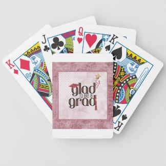 Baralhos De Poker Contente de ser um formando, vermelho, boné,