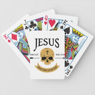 Baralhos De Poker Cristão da vida eterna do crânio de Jesus