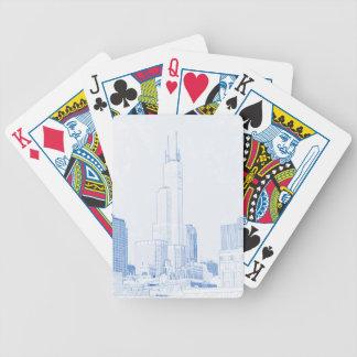 Baralhos De Poker Desenho abstrato do No1 de Chicago