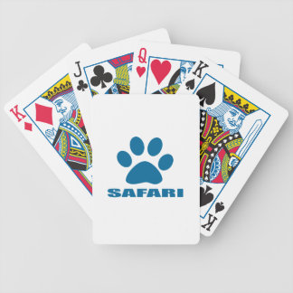 BARALHOS DE POKER DESIGN DO CAT DO SAFARI