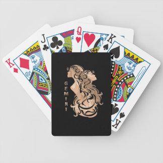 Baralhos De Poker Design do zodíaco dos Gêmeos