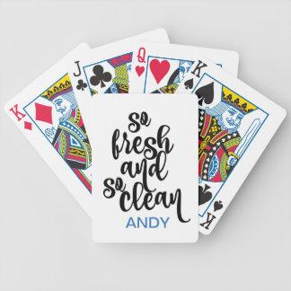 Baralhos De Poker Design preto & branco tão limpo tão fresco