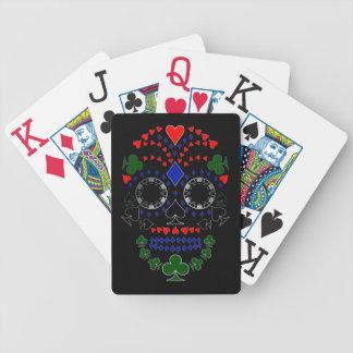 Baralhos De Poker Dia de prata dos cartões inoperantes do crânio do