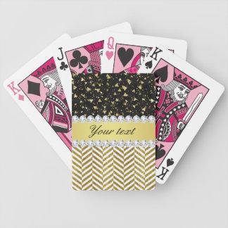Baralhos De Poker Diamante Bling das vigas dos triângulos dos