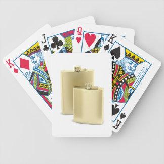 Baralhos De Poker Duas garrafas ancas douradas