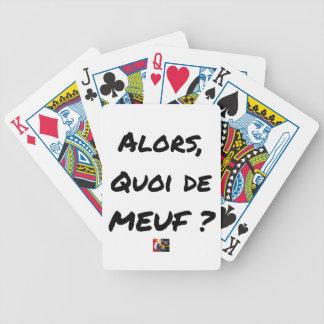 Baralhos De Poker ENTÃO, QUAL DE MEUF? - Jogos de palavras