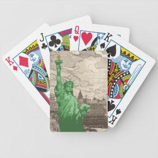Baralhos De Poker Estátua da liberdade clássica