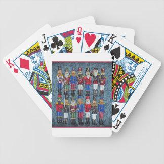 Baralhos De Poker Figuras do natal vintage, soldados idosos