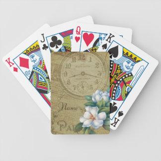 Baralhos De Poker Flores da magnólia do vintage