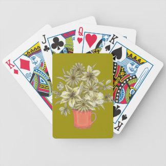 Baralhos De Poker Flores na caneca de café 1