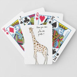 Baralhos De Poker Girafa das bolinhas
