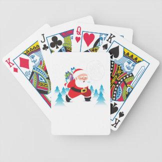 Baralhos De Poker homem da neve da rena do Natal de Papai Noel