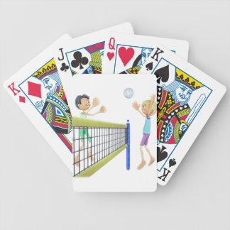 Baralhos De Poker Homens dos desenhos animados que jogam o voleibol