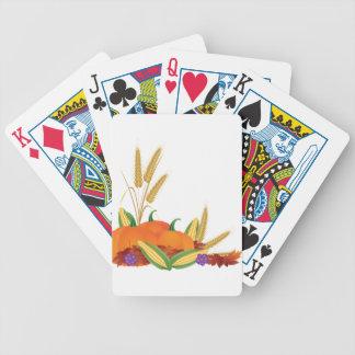 Baralhos De Poker Ilustração da colheita da queda