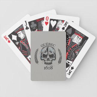 Baralhos De Poker Jogo de mapa Quebeque biker skull/crânio grunge