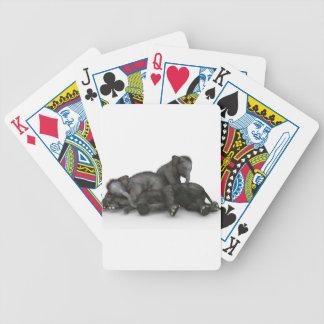 Baralhos De Poker jogo pequeno bonito dos elefantes do bebê