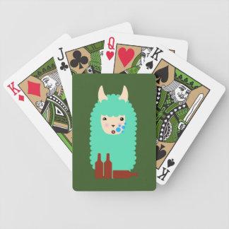 Baralhos De Poker Lama bêbedo de Emoji