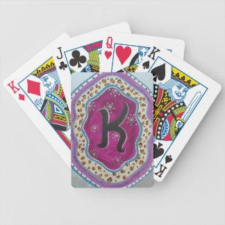 Baralhos De Poker Letra K do monograma