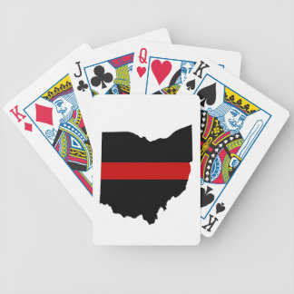 Baralhos De Poker Linha vermelha fina cartões de jogo