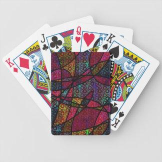 Baralhos De Poker Linhas pretas corajosas & texturas coloridos,