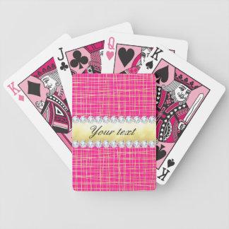Baralhos De Poker Linhas transversais diamantes de Criss do ouro do
