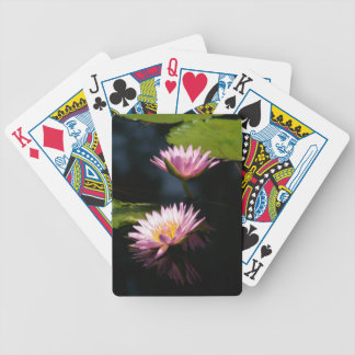 Baralhos De Poker Lotus roxo cor-de-rosa Waterlilies