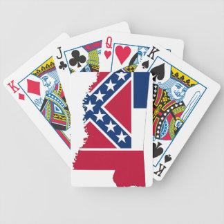 Baralhos De Poker Mapa da bandeira de Mississippi