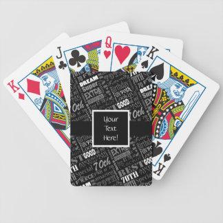Baralhos De Poker Monograma personalizado do 70 festa de aniversário