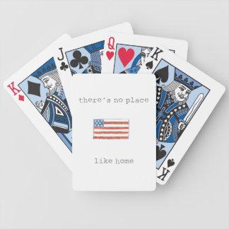 Baralhos De Poker Não há nenhum lugar como a bandeira da casa | Dos
