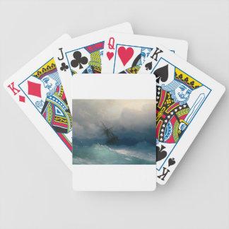 Baralhos De Poker Navio em mares tormentosos, Ivan Aivazovsky -