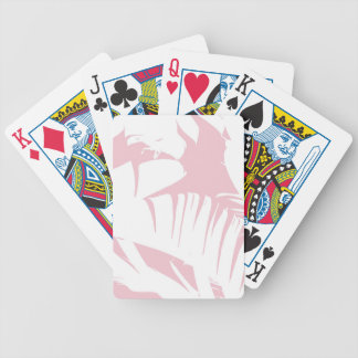 Baralhos De Poker O branco na banana tropical cor-de-rosa deixa o