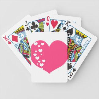 Baralhos De Poker O coração segue claro cor-de-rosa