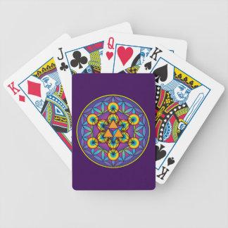 Baralhos De Poker O cubo Merkaba de Metatron na flor da vida