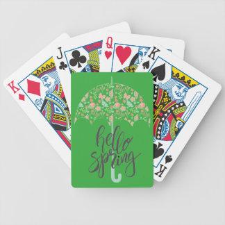 Baralhos De Poker Olá! guarda-chuva do primavera