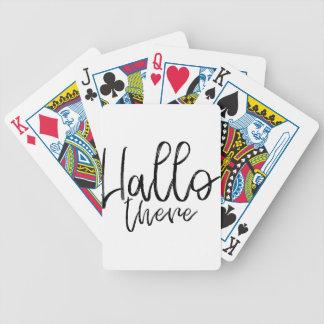 Baralhos De Poker Olá! palavras lá de fala