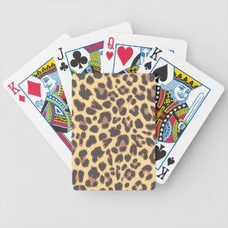 Baralhos De Poker Padrões da pele animal do impressão do leopardo