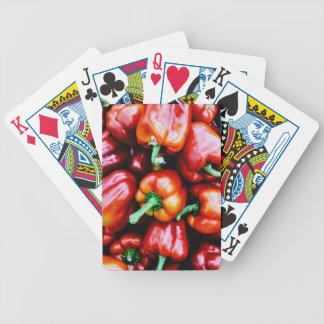 Baralhos De Poker Pimentas de Bell vermelhas