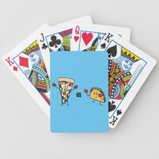 Baralhos De Poker Pizza de Pepperoni CONTRA o Taco: Mexicano contra