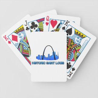 Baralhos De Poker Produto histórico do logotipo do Saint Louis