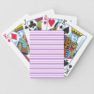 Baralhos De Poker Riscas horizontais da lavanda