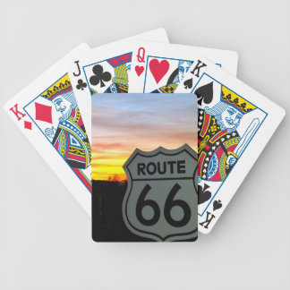 Baralhos De Poker Rota 66 no por do sol