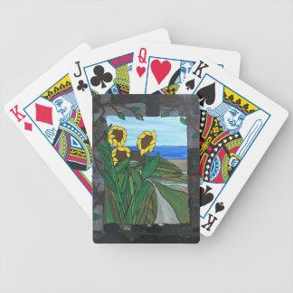 Baralhos De Poker Seascape do girassol