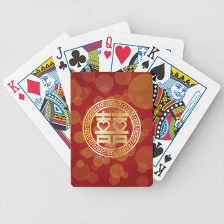 Baralhos De Poker Símbolo dobro do casamento da felicidade com os