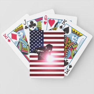 Baralhos De Poker Soldador e bandeira americana