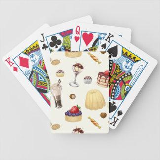Baralhos De Poker Teste padrão doce com várias sobremesas