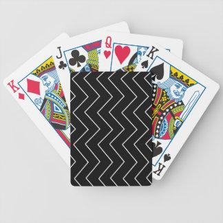 Baralhos De Poker Teste padrão geométrico abstrato - preto e branco.