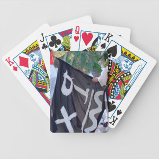 Baralhos De Poker tomada abaixo da imagem do poster da bandeira de