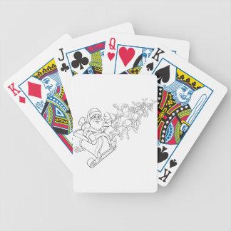 Baralhos De Poker Trenó do trenó do Natal de Papai Noel e de rena